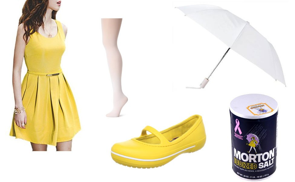 Morton Salt Umbrella Girl Costume