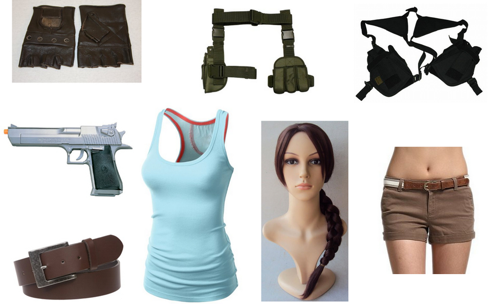 lara croft costume diy guides for cosplay halloween. Black Bedroom Furniture Sets. Home Design Ideas