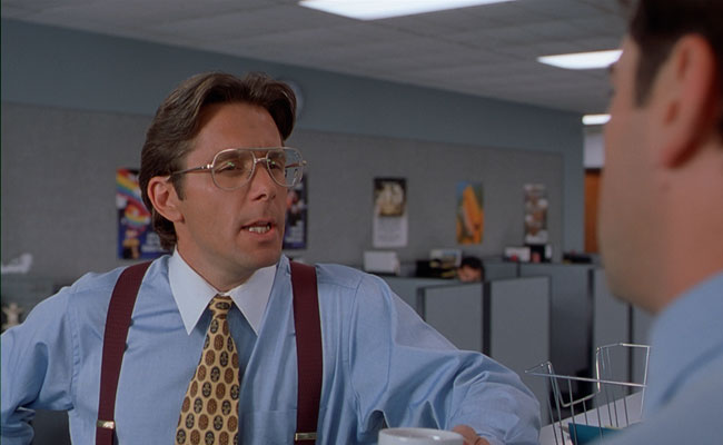 2a5ad4825 In Office Space, Bill Lumbergh is an Initech manager who constantly harps  on Peter Gibbons about his TPS reports. If you could just go ahead and pick  either ...
