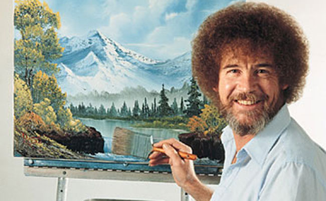bob ross is the lovable personality who brought the joy of painting to millions on his public television show he taught us how to use oil paints to create