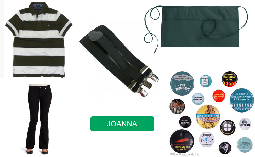 Joanna from office space carbon costume diy guides for cosplay halloween - Pieces of flair office space ...
