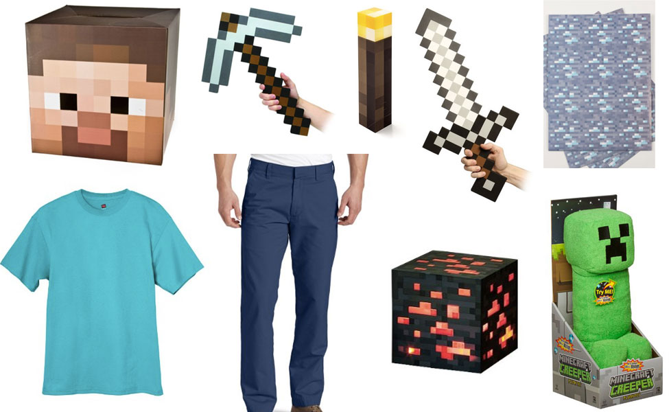 Minecraft Steve Costume Carbon Costume Diy Dress Up Guides For Cosplay Halloween