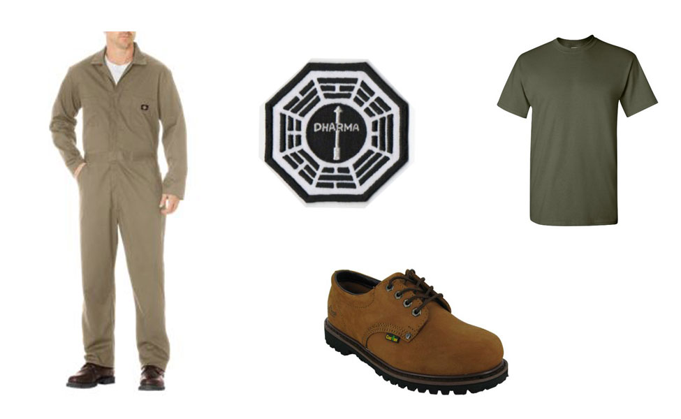 Sawyer in The Dharma Initiative Costume