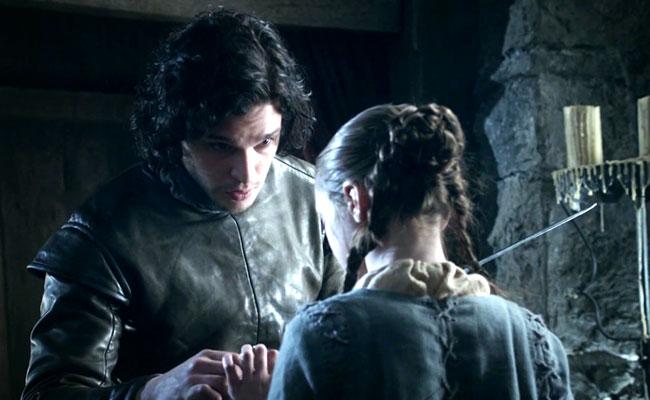 Jon Snow and Arya Stark