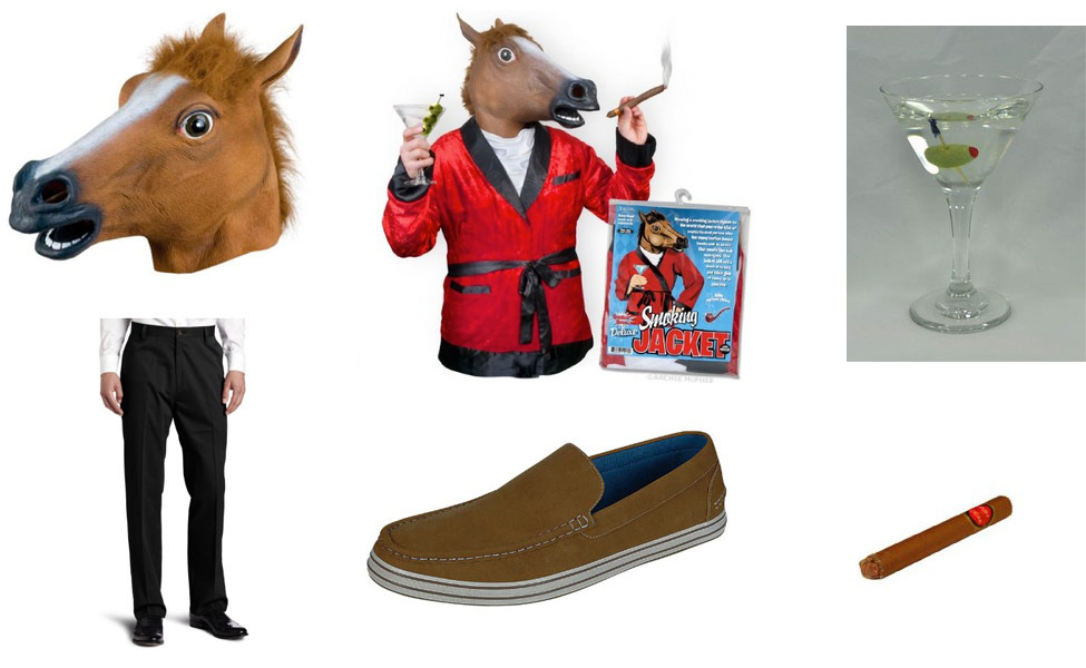 Horse Head Man Costume