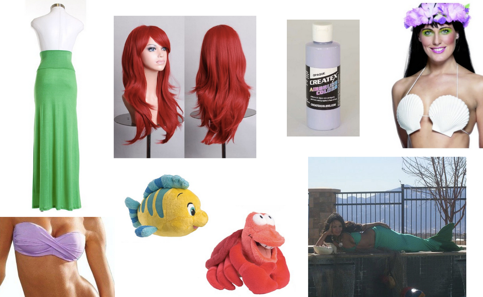 Ariel The Little Mermaid Costume  sc 1 st  Carbon Costume & Ariel The Little Mermaid Costume | DIY Guides for Cosplay u0026 Halloween