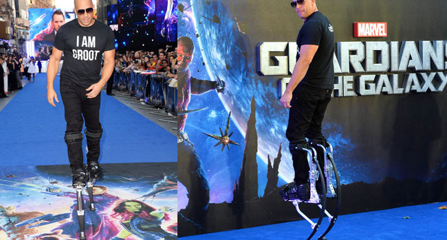 Vin Diesel at the Guardians Premiere
