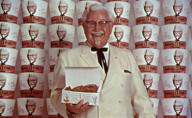 colonel sander and kentucky fried chicken Some colonel sanders fans find new kfc ads distasteful likeness and rights to take kentucky fried chicken from a menu item at 600 independent restaurants around the us and turn it into the nation's first fast-food chicken chain.
