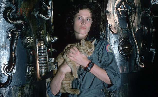 In The Alien Series Ellen Ripley Sigourney Weaver Is A Warrant Officer Aboard Spaceship Nostromo When Crew Wakes From Stasis To Find An Unknown