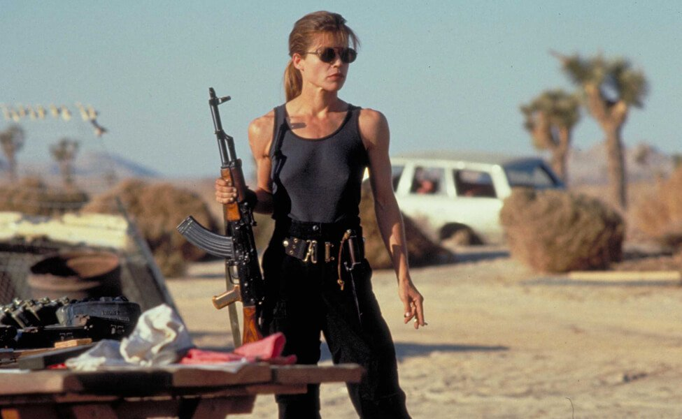 Sarah Connor from the Terminator Franchise