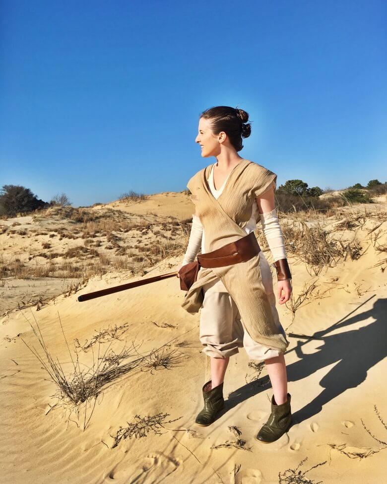 Make your own rey from star wars the force awakens costume diy rey from the force awakens solutioingenieria Choice Image