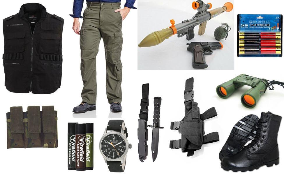 Commando John Matrix Costume