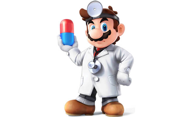 dr mario is a variation of mario that appears in the dr mario puzzle games as well as a playable character in super smash bros melee and super smash bros