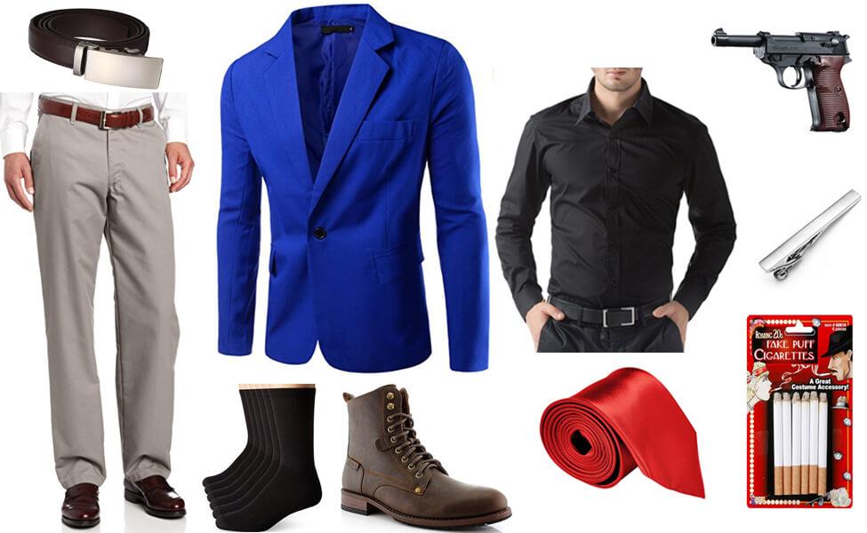 Lupin III Blue Jacket Series Version Costume