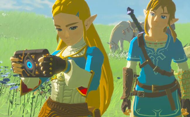 Link and Zelda in Legend of Zelda: Breath of the Wild