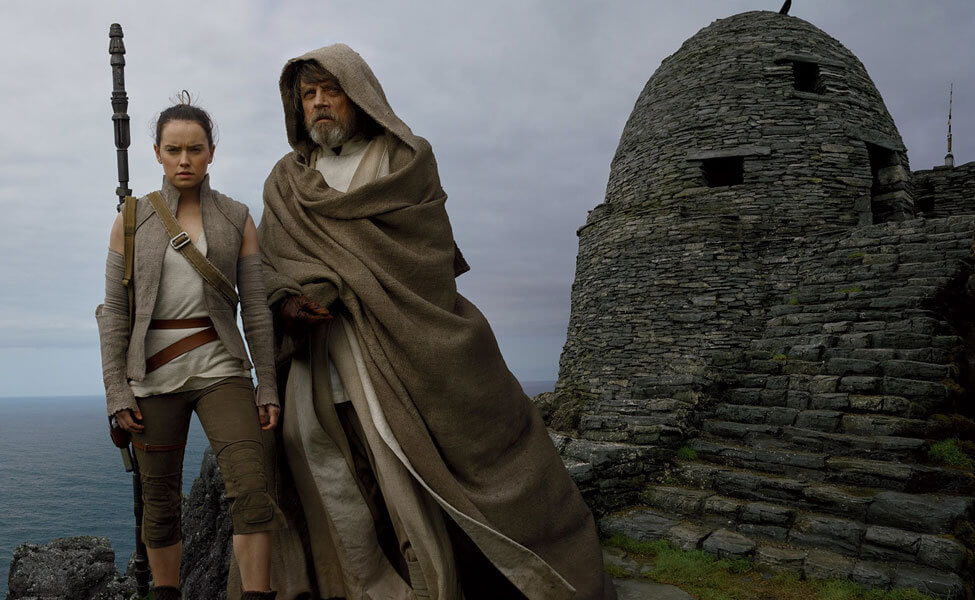 Rey and Luke Skywalker in Star Wars Ep 8