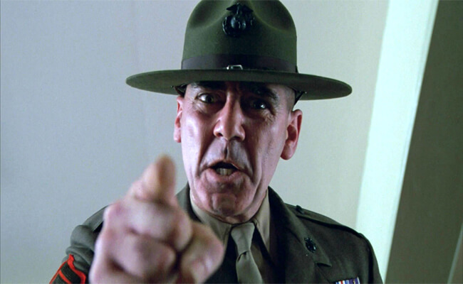 Gunnery Sergeant Hartman in Full Metal Jacket