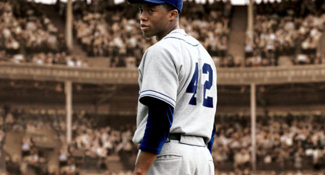 Jackie Robinson in 42