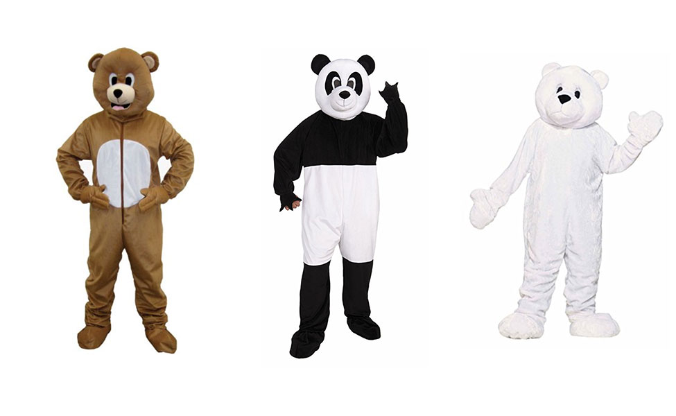 Ice Bear, Panda, Grizz from We Bare Bears Costume