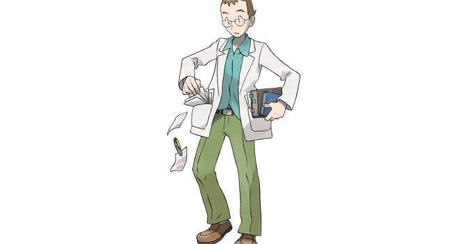 Professor Elm in Pokémon