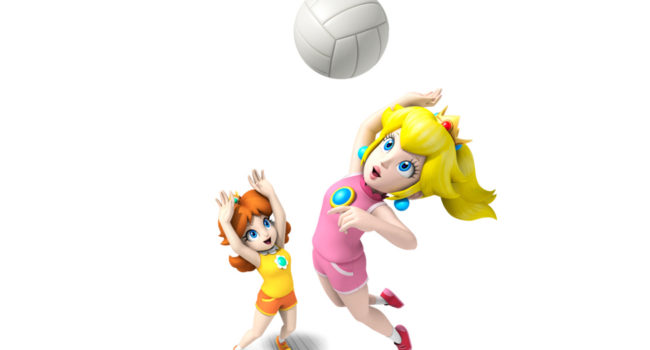 Peach and Daisy from Mario Sports Mix