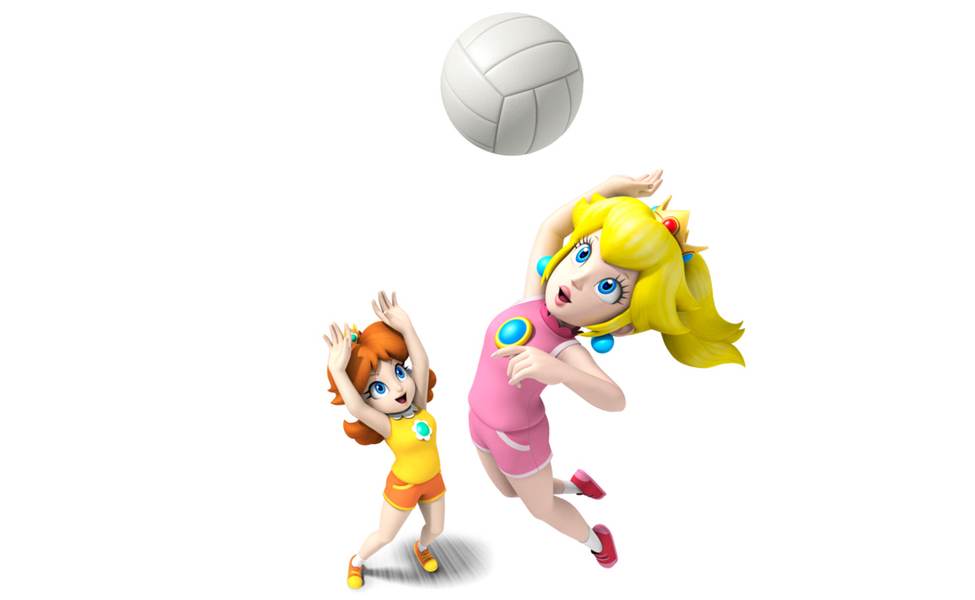 Peach and Daisy from Mario Sports Mix
