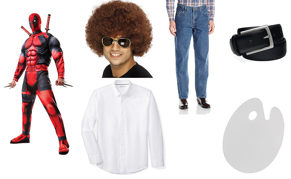 Bob Ross Deadpool Costume