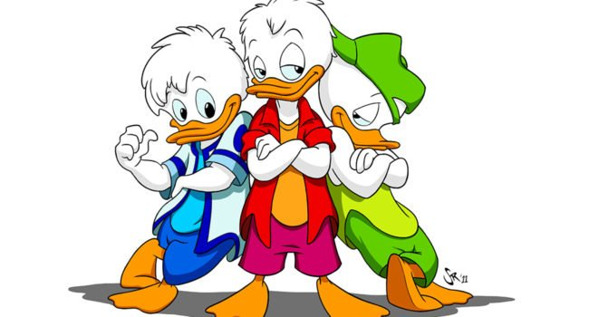Huey, Dewey, and Louie from Quack Pack