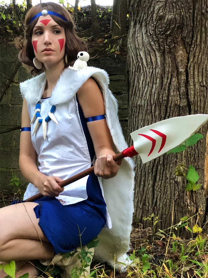 youre all done your princess mononoke costume youre now ready to abscond from polite society entirely and live amongst the wolves forever you lucky