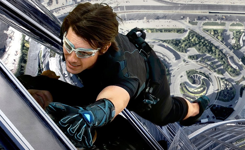 Ethan Hunt in Mission Impossible: Ghost Protocol