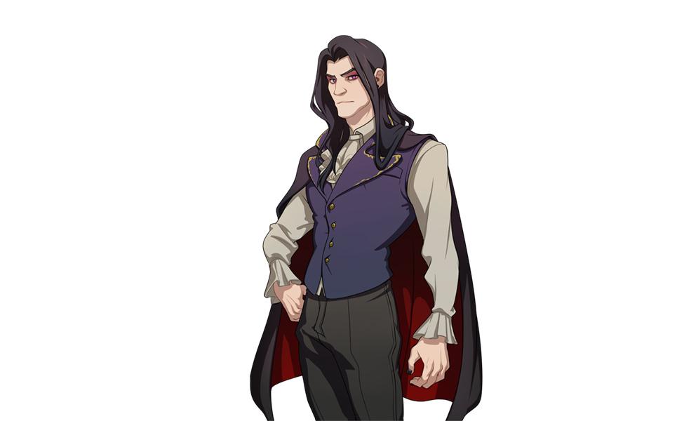 Damien Bloodmarch from Dream Daddy