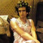 Brian May as Hilda Ogden from I Want to Break Free
