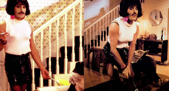 "Freddie Mercury as Bet Lynch from ""I Want To Break Free"""