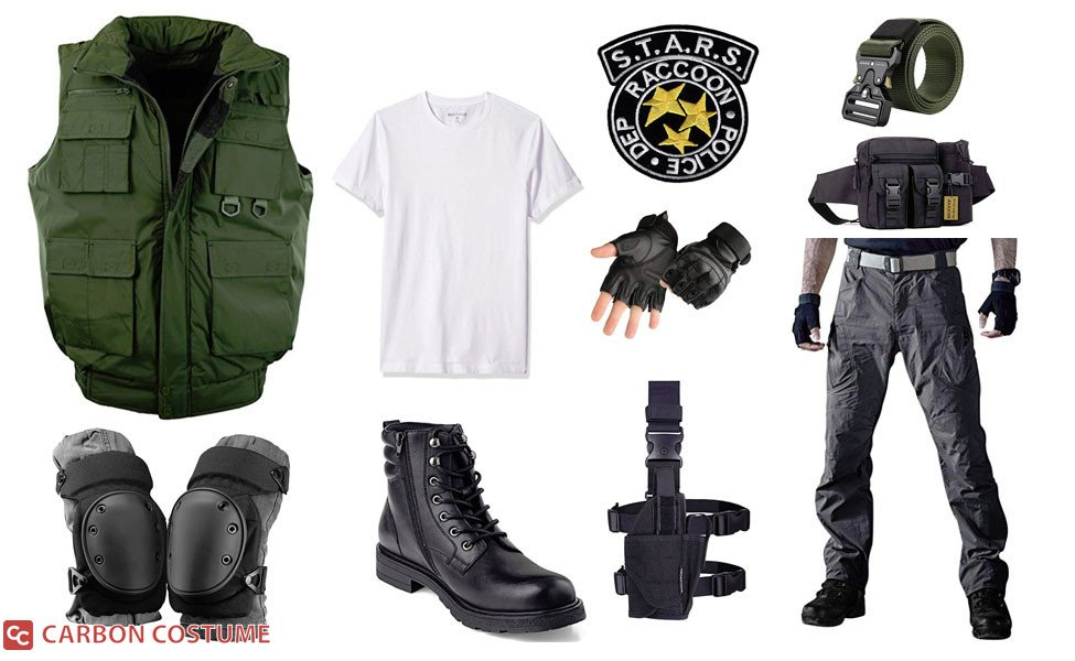 Chris Redfield From Resident Evil 1 Costume Carbon Costume
