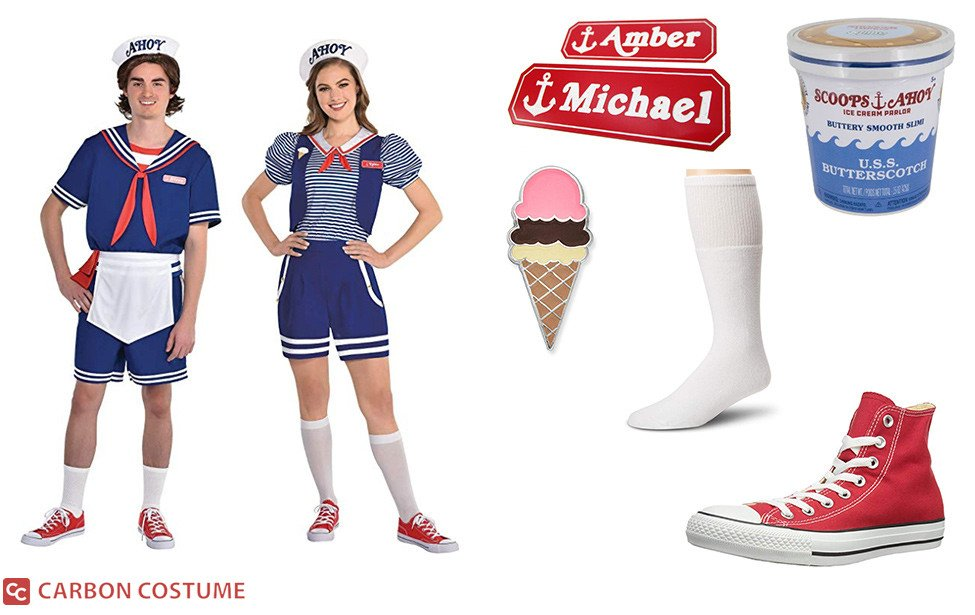 Scoops Ahoy Workers from Stranger Things Costume