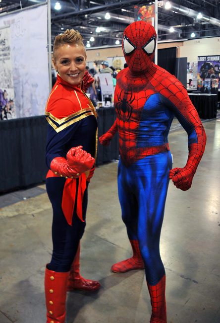Captain Marvel and Spider-Man