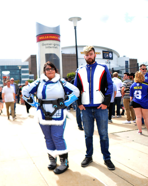 Mei and Soldier:76 cosplays from Overwatch by @xxqueenthiccxx and @uh.ricky
