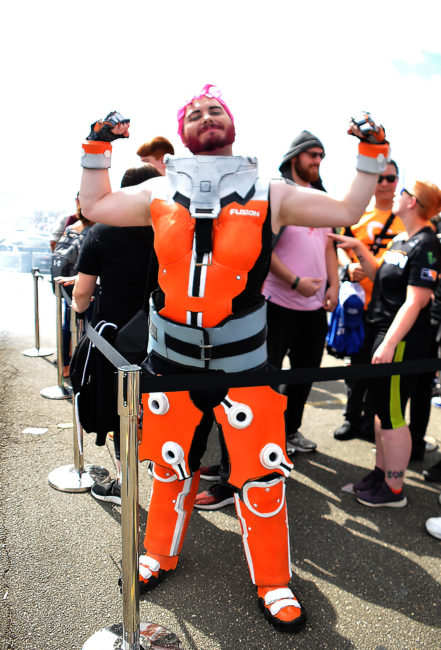 Philly Fusion Zarya cosplay at Overwatch League Grand Finals by @cake_king_rrc