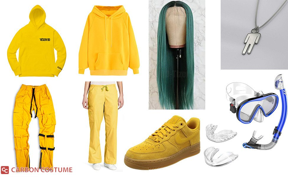 Billie Eilish Yellow Outfit from Bad Guy Costume