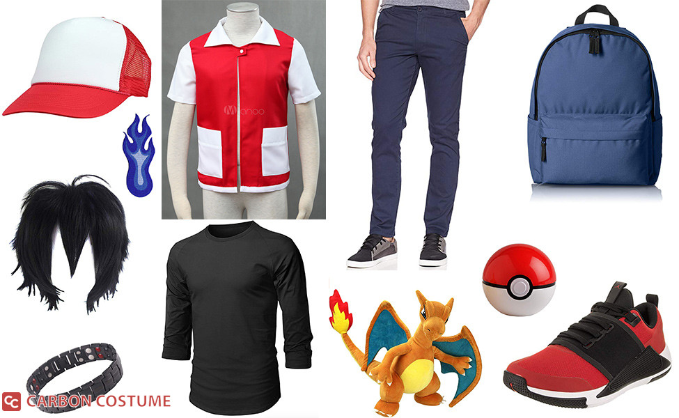 Red from Pokemon Masters Costume