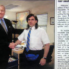 Young Michael Scott Shaking Hands Photo from The Office