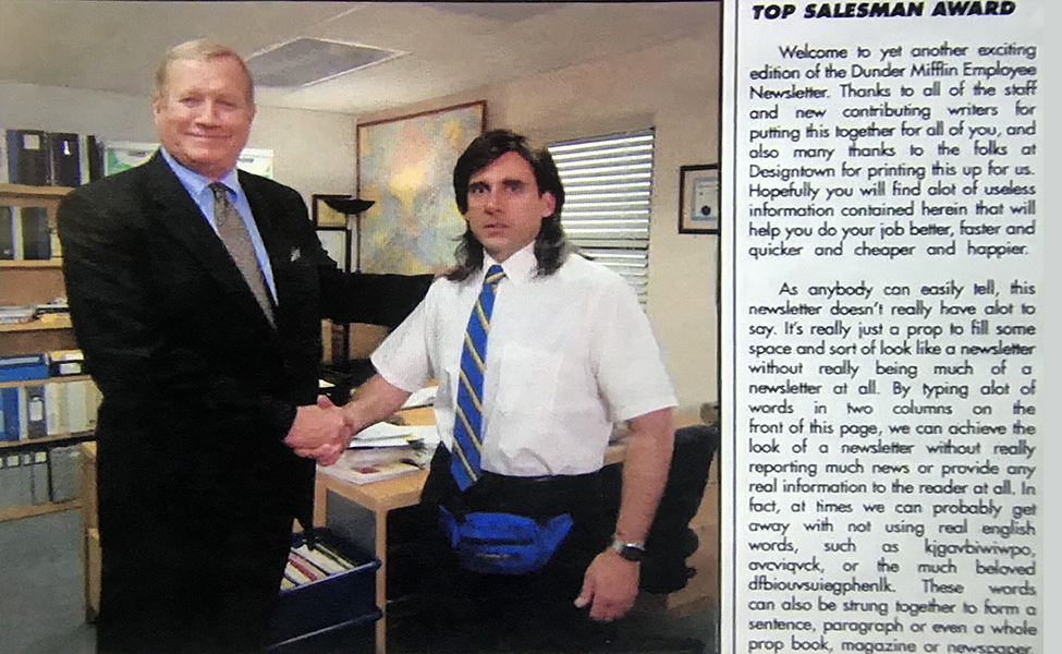 Young Michael Scott Shaking Hands from The Office