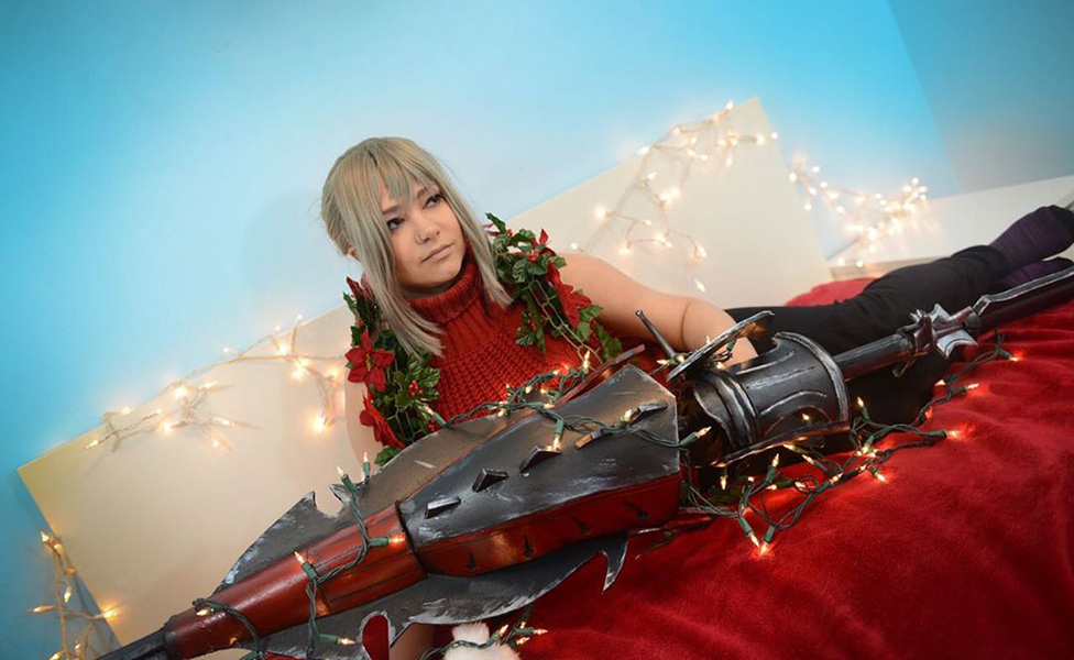 Christmas Aranea Cosplay from Final Fantasy by alisonjefferycosplay