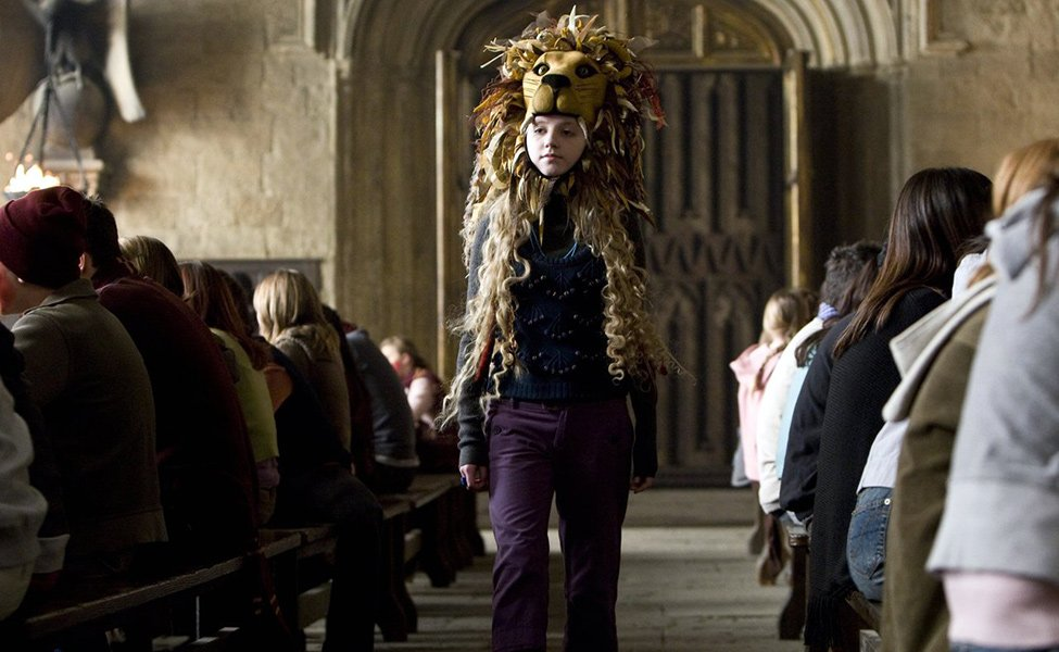 Lion-Hat Luna Lovegood from Order of the Phoenix