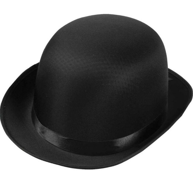 Black bowler/derby hat