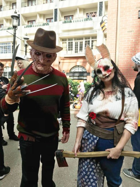 Freddy Krueger and Anna from Dead by Daylight
