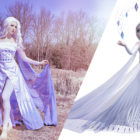 Queen Elsa White Dress Costume from Frozen 2
