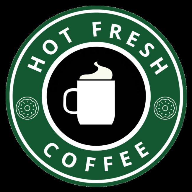 Hot Fresh Coffee Decal