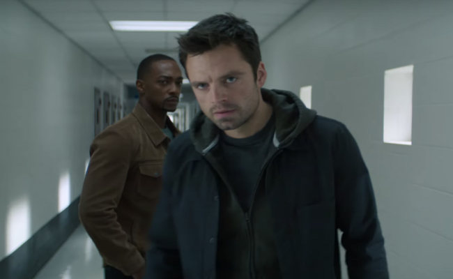 Sam and Bucky from Falcon and the Winter Soldier