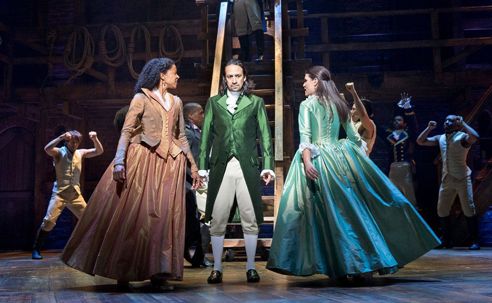 Hamilton and Schuyler Sisters